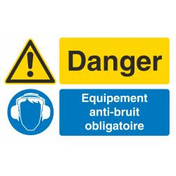 Autocollant Obligation Danger Port Anti Bruit