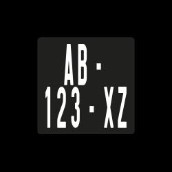 plaque immatriculation moto plexi 10x10 cm sp cial enduro. Black Bedroom Furniture Sets. Home Design Ideas