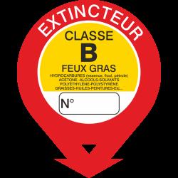Autocollant Signalisation Extincteur Classe B