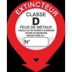 Autocollant Signalisation Extincteur Classe D
