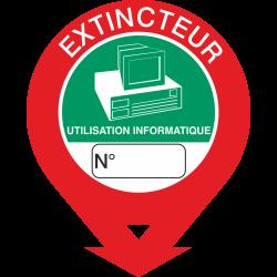 Autocollant Signalisation Extincteur Informatique