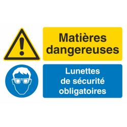 Autocollant Obligation Matières Dangereuses Port Lunette