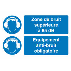 Autocollant Obligation Zone Bruit Port Anti Bruit