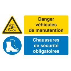 Autocollant Obligation Danger Manutention Port Chaussure Securité
