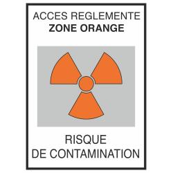 Autocollant Risque De Contamination Orange