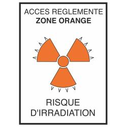 Autocollant Risque D'irradiation Orange