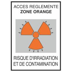 Autocollant Risque D'irradiation Et De Contamination Orange