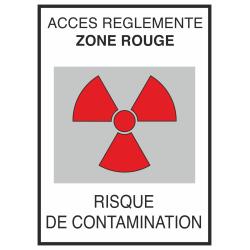 Autocollant Risque De Contamination Rouge