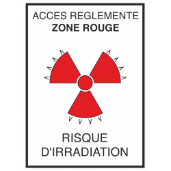 Autocollant Risque D'irradiation Rouge