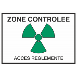 Autocollant Zone Controlée / Accès Réglementé