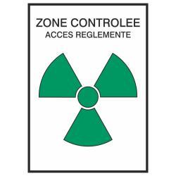 Autocollant Zone Controlée / Accès Réglementé 2