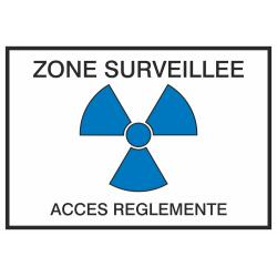 Autocollant Zone Surveillée / Accès Réglementé