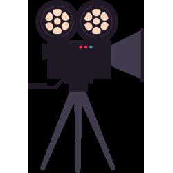Autocollant Métier Audiovisuel Caméra