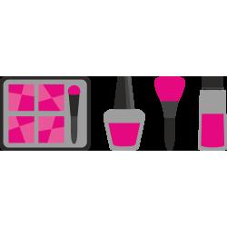 Autocollant Métier Esthétique Maquillage