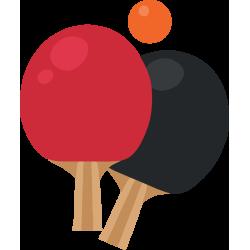 Autocollant Métier Loisirs Sport Ping Pong
