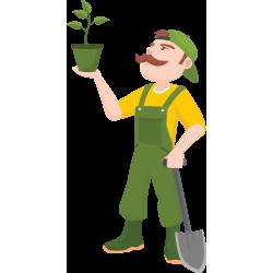 Autocollant Métier Nature Jardinier 1