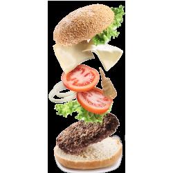 Autocollant Salé Hamburger 4