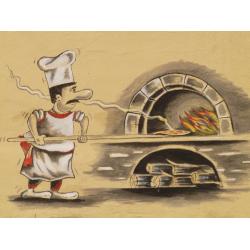 Autocollant Pizza Chef 3