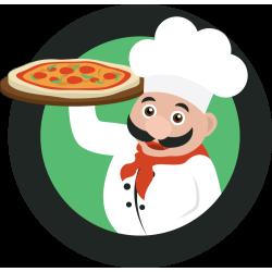 Autocollant Pizza Chef 5