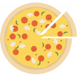 Autocollant Pizza 9