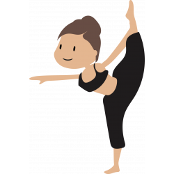 Autocollant Logo Yoga Meditation 5