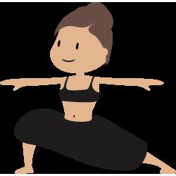 Autocollant Logo Yoga Meditation 6