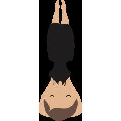Autocollant Logo Yoga Meditation 7