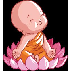 Autocollant Logo Yoga Meditation 10