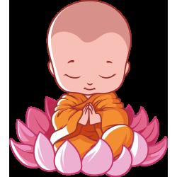 Autocollant Logo Yoga Meditation 12