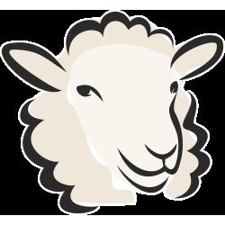 Autocollant Logo Animaux Ferme Mouton