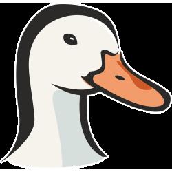 Autocollant Logo Animaux Ferme Canard