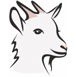 Autocollant Logo Animaux Ferme Chèvre