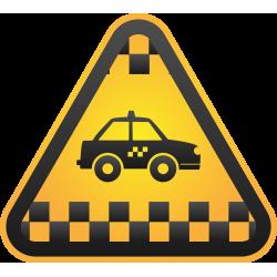 Autocollant Métier Taxi 1