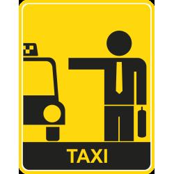 Autocollant Métier Taxi 8