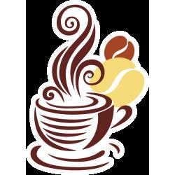 Autocollant Café Logo