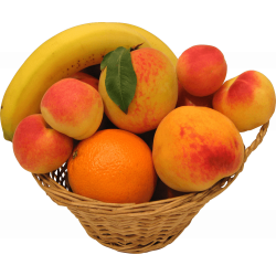 Autocollant Alimentation Corbeille De Fruits