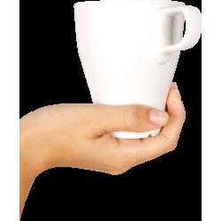 Autocollant Personne Main Mug