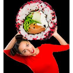 Autocollant Personne Femme Sushi 1