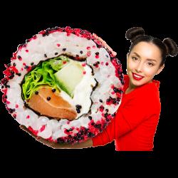 Autocollant Personne Femme Sushi 2