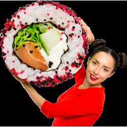 Autocollant Personne Femme Sushi 3