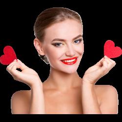 Autocollant Personne Femme Cœur Beauté 5