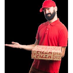 Autocollant Personne Livreur Pizza
