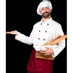 Autocollant Personne Chef Boulanger