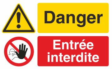 Autocollant Danger / Entrée interdite