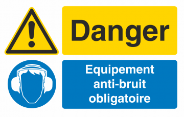 Autocollant Obligation Danger Port Anti Bruit