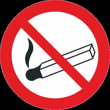 Autocollant Interdiction Flamme nue et de fumer