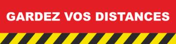 Autocollant Gardez vos distances COVID19