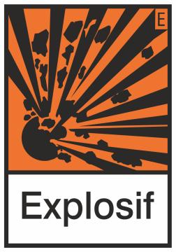 Autocollant Produit Dangereux Explosif