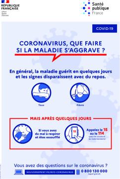 Autocollant Affiche Coronavirus Sécurité 2