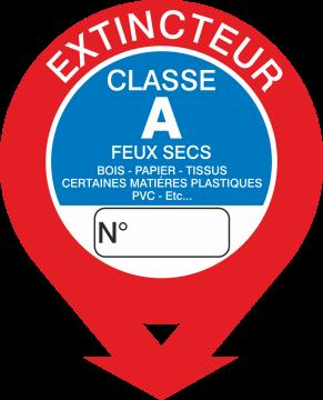 Autocollant Signalisation Extincteur Classe A